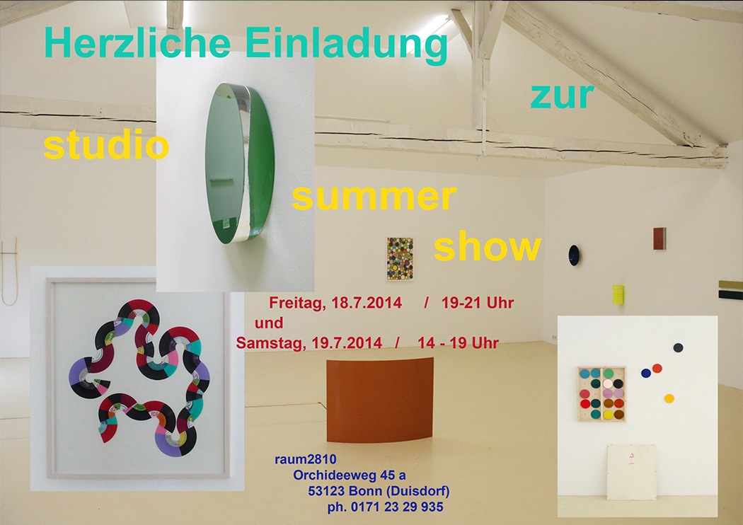 Christoph Dahlhausen Summer Studio Show