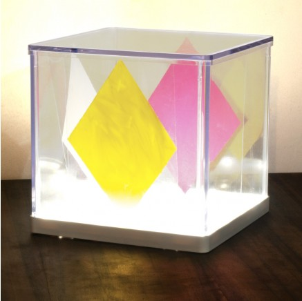 Cube lamp paintings